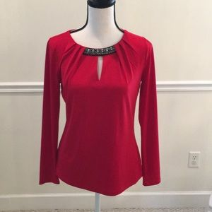 Liz Claiborne career blouse in red size small